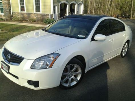 Buy Used 2007 Nissan Maxima Se White, Fully Loaded Low