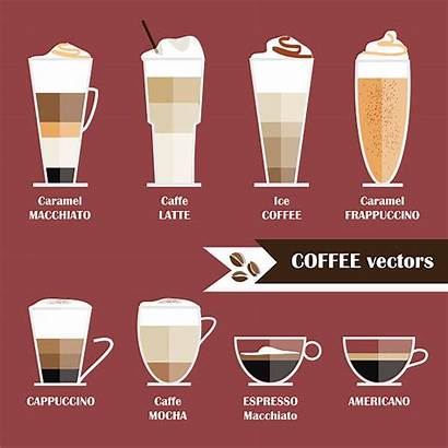 Macchiato Coffee Types Illustrations Cafe Vector Icon