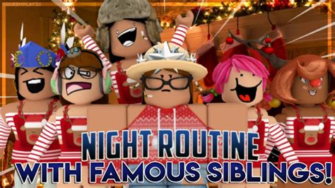 Roblox  Bloxburg Child's Night Routine With Famous
