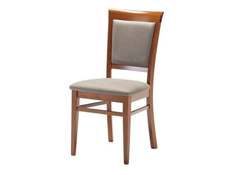 wooden chair with padded seat and backrest for living
