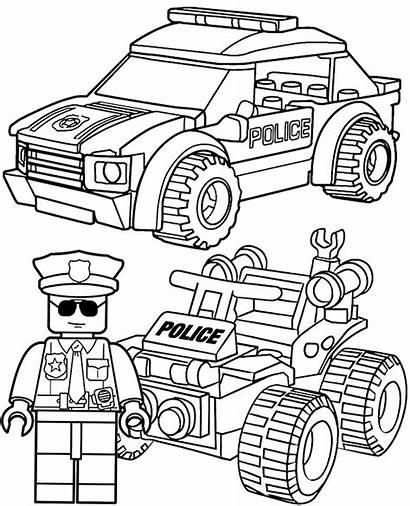 Coloring Lego Police Policja Kolorowanka Kolorowanki Dzieci