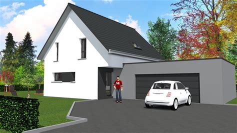 cabinet de maitrise d oeuvre c 178 maison contemporaine 2 pans et toit plat sur garage accol 233 sur