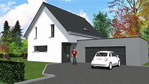 cabinet de maitrise d39oeuvre c2 maison contemporaine 2 With maison toit plat en l 2 maison neuve toit plat