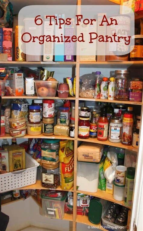 tips  organize  pantry