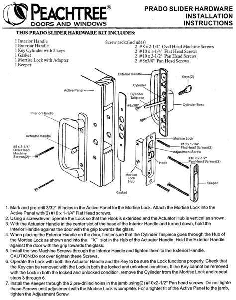 door hardware parts peachtree prado sliding door hardware installation