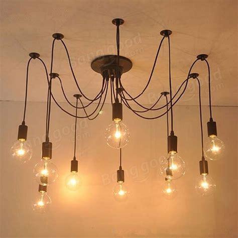 edison light chandelier 10 lights edison retro spider chandelier pendant light 110