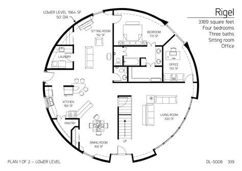 floor plan dl  monolithic dome institute