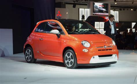 fiat   orange white electric  la auto show