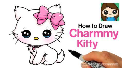 draw  cute cat easy sanrio charmmy kitty youtube
