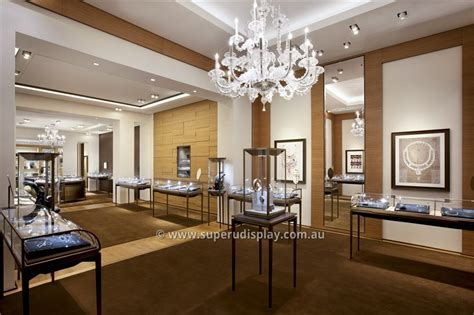 cartier luxury jewellery shop design  store fixtures