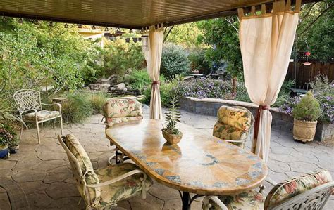 Patio Curtains Outdoor Idea by Outdoor Curtain Ideas With Outdoor Patio Dining Table