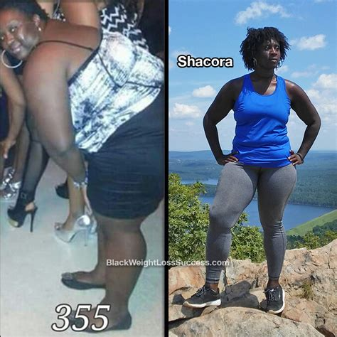 shacora lost  pounds black weight loss success