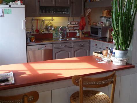 plan de travail cuisine 3m50 béton ciré concept cuisines plan de travail