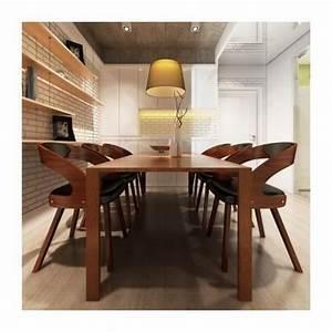 Chaises design de salon salle a manger marron x6 maja for Meuble salle À manger avec chaise de salon pas cher
