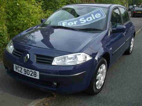 renault megane 2004 blue renault 2004 53 reg megane 1 4 16v 98 blue car for sale