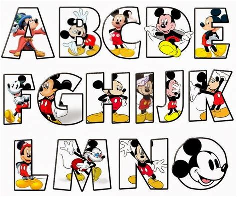6 best images of mickey mouse letters alphabet mickey alfabeto de mickey moldes letras disney 38896