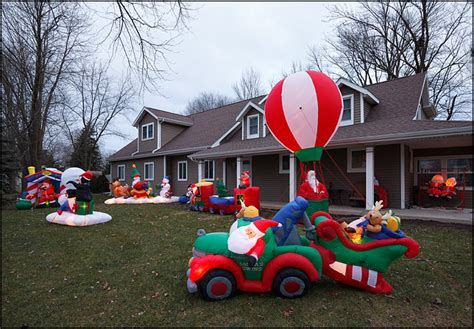front yard full  inflatable christmas decorations