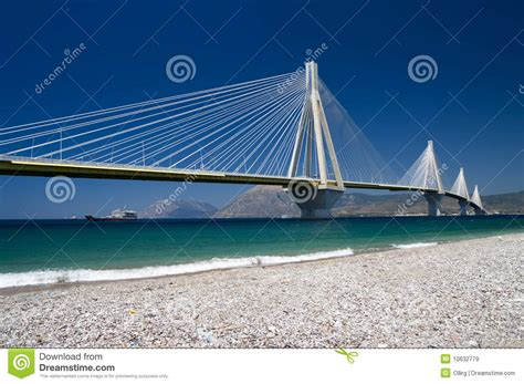 cable stayed bridge greece royalty  stock images