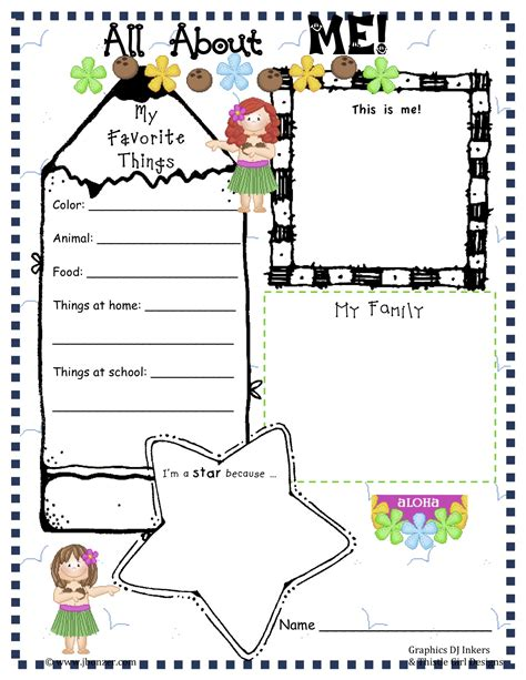 About Me Template For Students by Free Preschool All About Me Worksheets Free Preschool