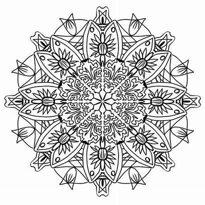Mandala Coloring Pencil Pattern Drawing