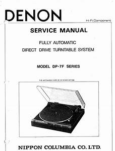Denon Dp 7f Turntable System Service Manual Free Download