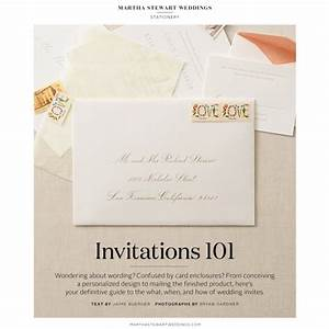 Invitations 101 all the basics martha stewart weddings for Wedding invitation kits martha stewart