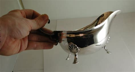 Very Gravy Boat by Very Pretty 1919 Large Silver Gravy Or Sauce Boat In