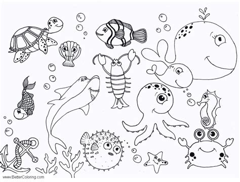 sea octopus coloring pages  printable