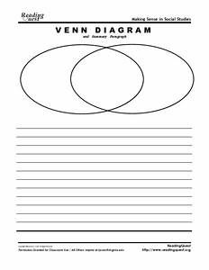 Venn Diagram And Summary Paragraph Graphic Organizer For
