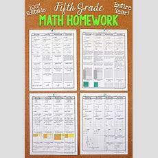 5th Grade Math Homework 5th Grade Morning Work 5th Grade Math Review Editable  Pacing Guide
