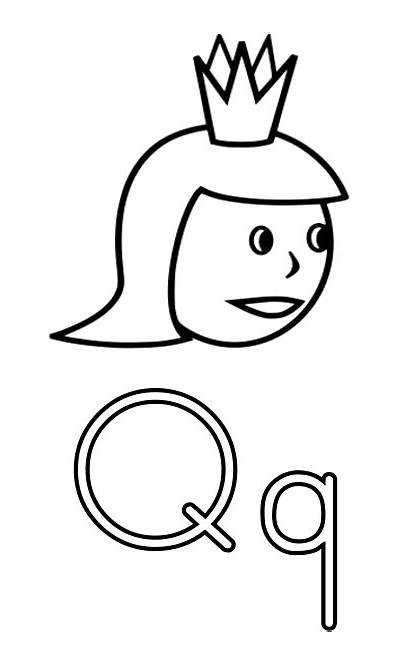 Queen Letter Coloring Alphabet Worksheets Printable Pages