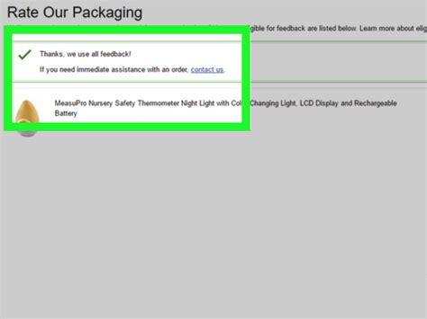 leave packaging feedback  amazon  steps