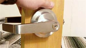 storeroom function lever handle from wwwlockpeddlercom With how to remove a bathroom door handle with lock