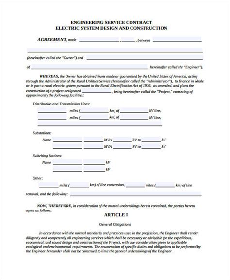 Engineering Services Contract Template by Engineering Services Contract Template 28 Images