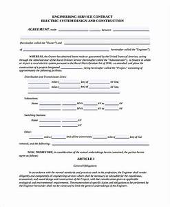 25 contract agreement forms in pdf With engineering services contract template