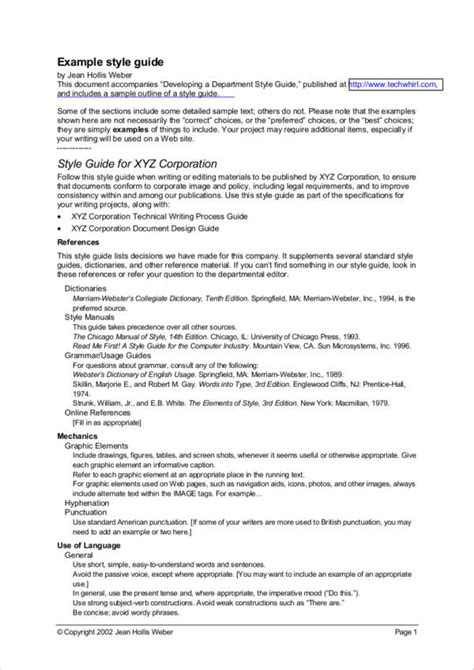 technical writing samples  templates