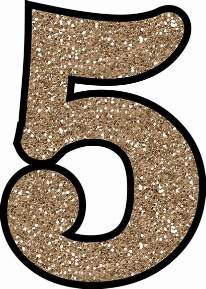 Numbers Printable Glitter Numero Digital Articulo Thespruce