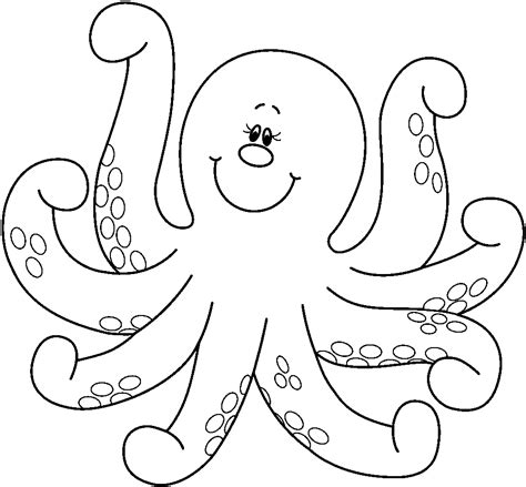 octopus coloring pages preschool and kindergarten 381 | free animals octopus printable coloring pages for children