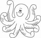 Coloring Pages Octopus Animals Printable Preschool Worksheets Kindergarten Crafts Dibujos sketch template