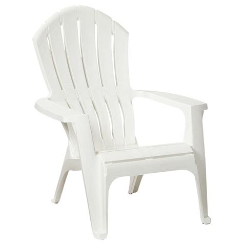 realcomfort chalk plastic outdoor adirondack chair 8371 47