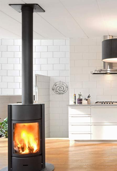 Contemporary Stand Alone Gas Fireplaces  Solid Fuel Stove