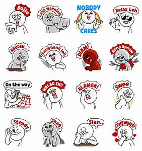 Singaporean Moon Special – LINE Stickers