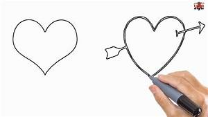 How to Draw a Heart Easy Drawing Step By Step Tutorials ...