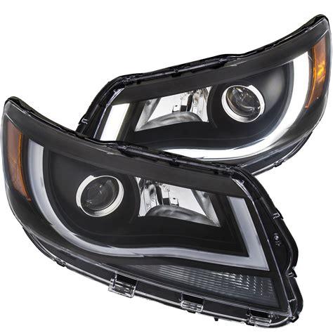 anzo  anzo usa chevrolet colorado projector headlights  plank style design black