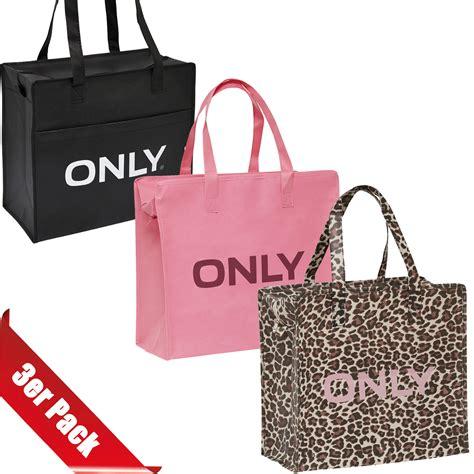 only tasche quot 3er pack shopping bag umh 228 nge shopper einkaufs tasche neu ebay