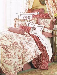 good toile de jouy decoration 2 layers of red toile With toile de jouy decoration
