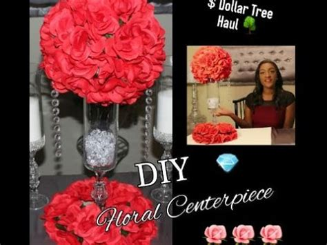 glass pillar candlestick diy dollar tree floral arrangement centerpiece