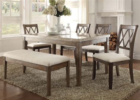 cloudia set dining table 71715 5pc set by acme w options