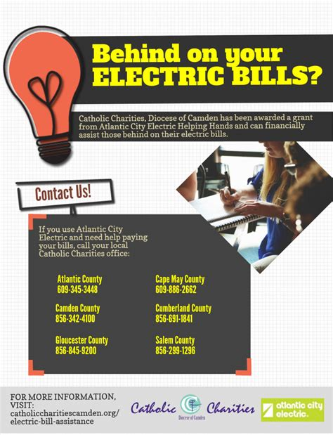 help with light bill electric bill assistance atlantic city electric helping