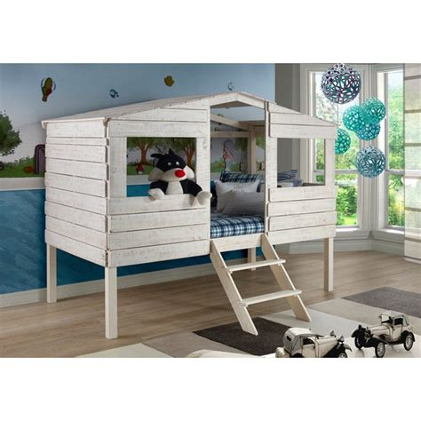 Tree House Bunk Beds For Sale - shop donco rustic sand tree house loft bed on